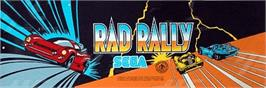 Arcade Cabinet Marquee for Rad Rally.