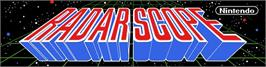 Arcade Cabinet Marquee for Radar Scope.