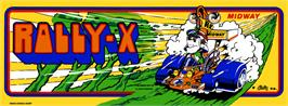 Arcade Cabinet Marquee for Rally X.