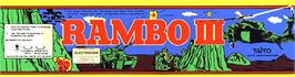 Arcade Cabinet Marquee for Rambo III.