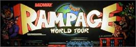 Arcade Cabinet Marquee for Rampage: World Tour.