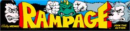 Arcade Cabinet Marquee for Rampage.