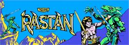 Arcade Cabinet Marquee for Rastan.