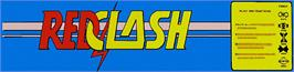 Arcade Cabinet Marquee for Red Clash.