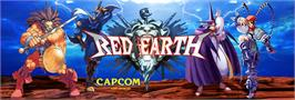 Arcade Cabinet Marquee for Red Earth.