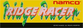 Arcade Cabinet Marquee for Ridge Racer.