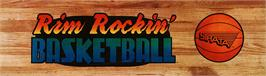 Arcade Cabinet Marquee for Rim Rockin' Basketball.