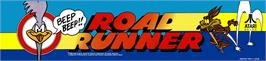 Arcade Cabinet Marquee for Road Runner.