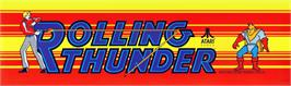 Arcade Cabinet Marquee for Rolling Thunder.