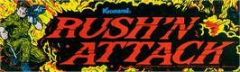 Arcade Cabinet Marquee for Rush'n Attack.