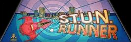 Arcade Cabinet Marquee for S.T.U.N. Runner.