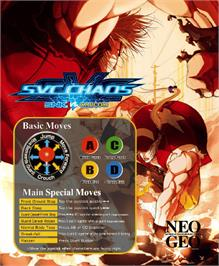 Arcade Cabinet Marquee for SNK vs. Capcom - SVC Chaos Super Plus.