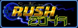 Arcade Cabinet Marquee for San Francisco Rush 2049: Tournament Edition.