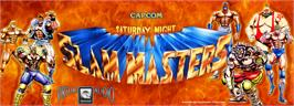Arcade Cabinet Marquee for Saturday Night Slam Masters.