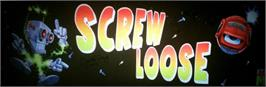 Arcade Cabinet Marquee for Screw Loose.