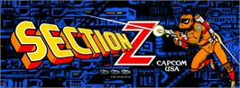 Arcade Cabinet Marquee for Section Z.