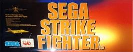 Arcade Cabinet Marquee for Sega Strike Fighter.