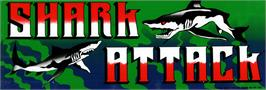 Arcade Cabinet Marquee for Shark Attack.