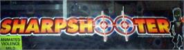 Arcade Cabinet Marquee for Sharpshooter.
