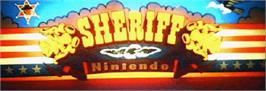 Arcade Cabinet Marquee for Sheriff.