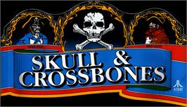 Arcade Cabinet Marquee for Skull & Crossbones.