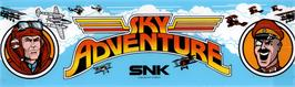 Arcade Cabinet Marquee for Sky Adventure.