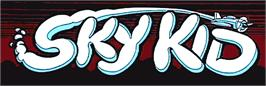 Arcade Cabinet Marquee for Sky Kid.