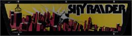 Arcade Cabinet Marquee for Sky Raider.