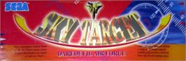 Arcade Cabinet Marquee for Sky Target.