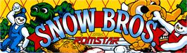 Arcade Cabinet Marquee for Snow Bros. - Nick & Tom.