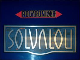 Arcade Cabinet Marquee for Solvalou.