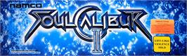 Arcade Cabinet Marquee for Soul Calibur II.