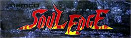 Arcade Cabinet Marquee for Soul Edge.