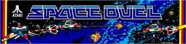 Arcade Cabinet Marquee for Space Duel.