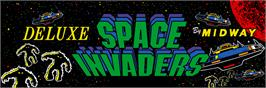 Arcade Cabinet Marquee for Space Invaders Deluxe.