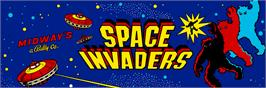 Arcade Cabinet Marquee for Space War.