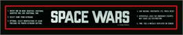Arcade Cabinet Marquee for Space Wars.