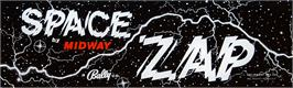 Arcade Cabinet Marquee for Space Zap.