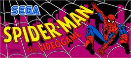 Arcade Cabinet Marquee for Spider-Man: The Videogame.