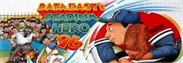 Arcade Cabinet Marquee for Stadium Hero 96.