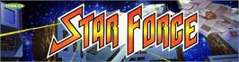 Arcade Cabinet Marquee for Star Force.