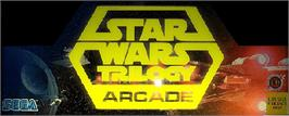 Arcade Cabinet Marquee for Star Wars Trilogy.