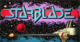 Arcade Cabinet Marquee for Starblade.