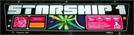 Arcade Cabinet Marquee for Starship 1.