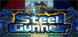 Arcade Cabinet Marquee for Steel Gunner.
