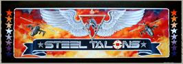 Arcade Cabinet Marquee for Steel Talons.