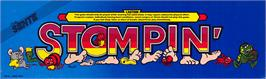 Arcade Cabinet Marquee for Stompin'.
