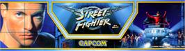 Arcade Cabinet Marquee for Street Fighter: The Movie.