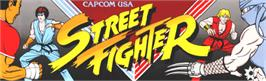 Arcade Cabinet Marquee for Street Fighter.