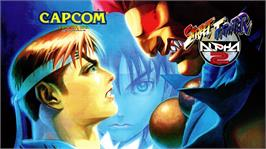Arcade Cabinet Marquee for Street Fighter Alpha 2.